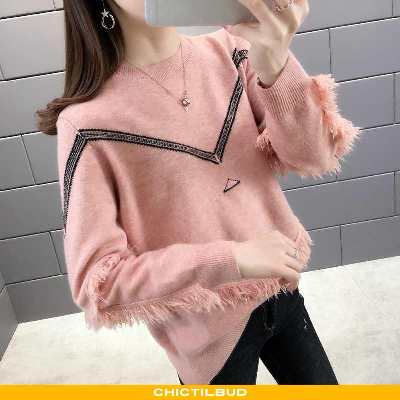 Sweatere Dame Sweater Langærmet Simple