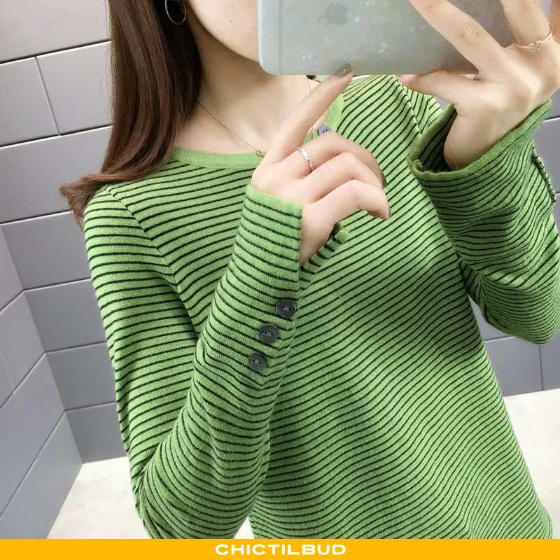 Sweatere Dame Sweater Stribet Elegante