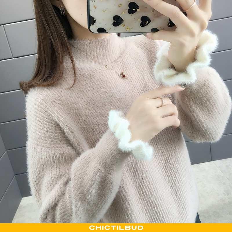 Sweatere Dame Sweater Strikket Elegante Åndbare