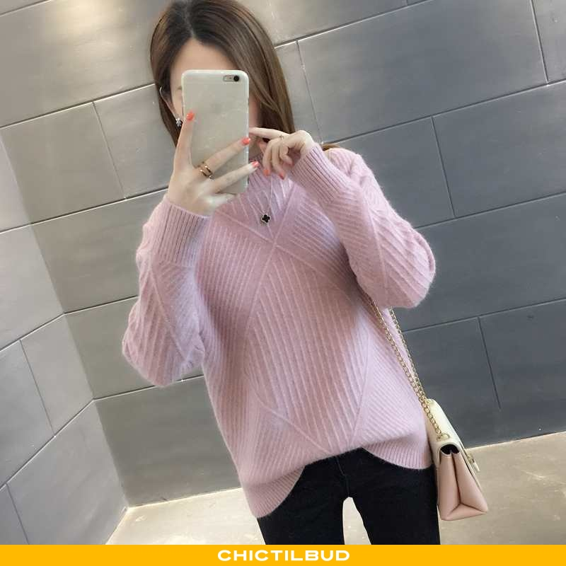 Sweatere Dame Sweater Strikket Forårs Ny