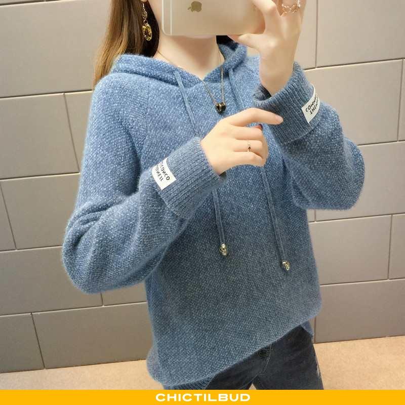 Sweatere Dame Sweater Strikket Løse Jakke