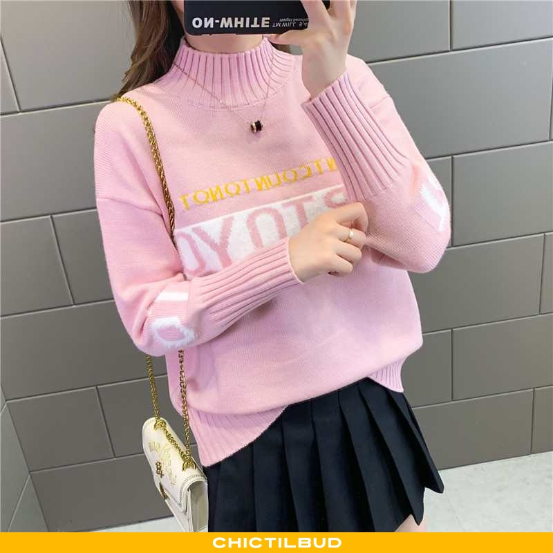 Sweatere Dame Trend Elegante Lyserød