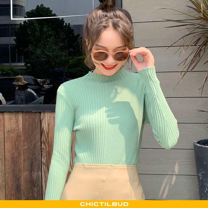 Sweatere Dame Undertrøje Strikket Mode Alt Matcher