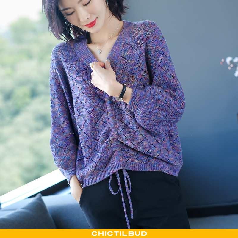 Sweatere Dame Undertrøje Strikket Trend Jakke
