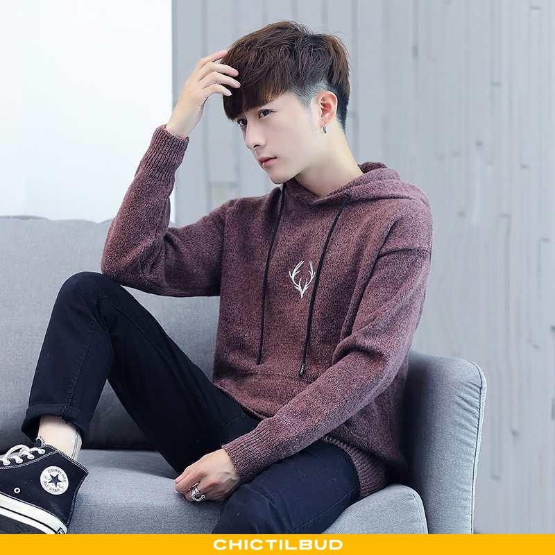 Sweatere Herre Hættetrøje Mode Mænd