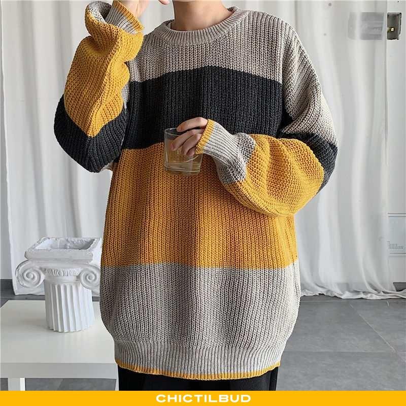 Sweatere Herre Striktrøjer Casual Alt Matcher