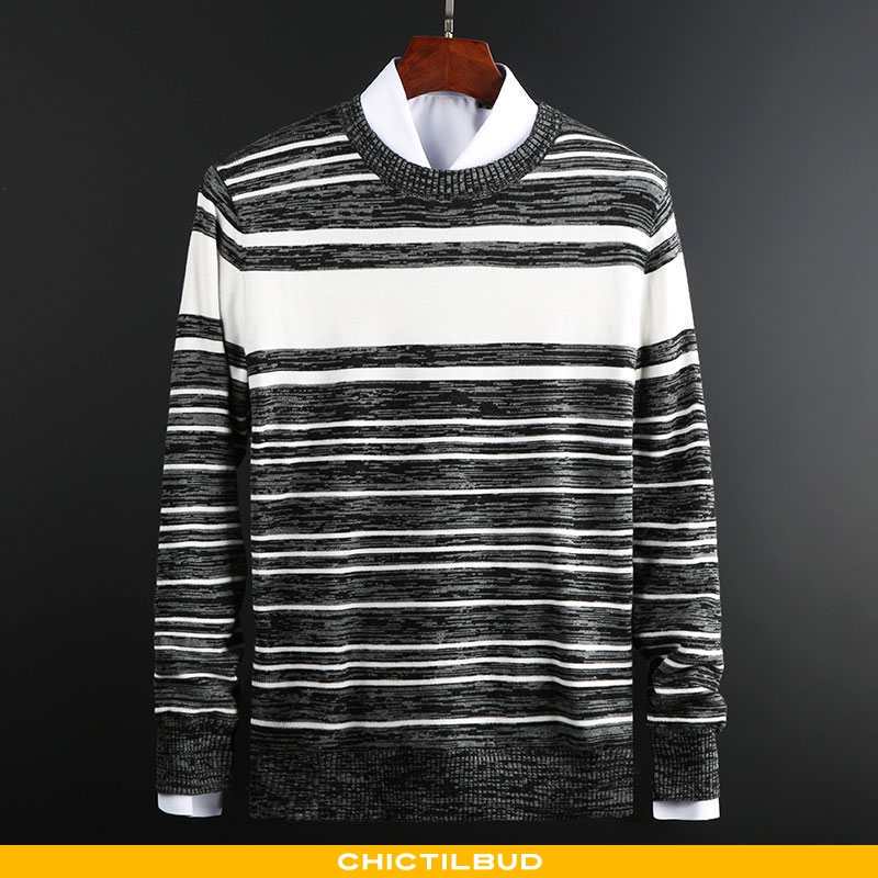 Sweatere Herre Striktrøjer Langærmet Mænd
