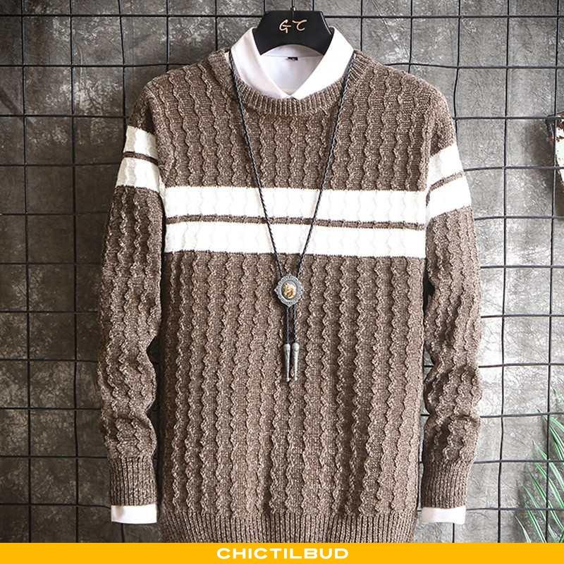 Sweatere Herre Striktrøjer Trend Mænd