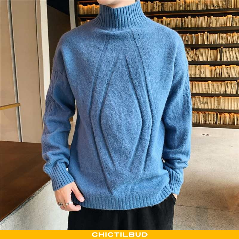 Sweatere Herre Striktrøjer Trend Ungdom