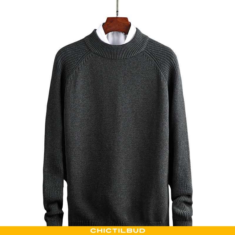 Sweatere Herre Striktrøjer Tykke Grå