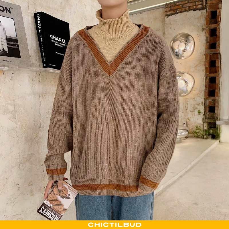 Sweatere Herre Striktrøjer Vintage Pullover