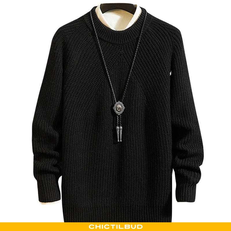 Sweatere Herre Striktrøjer Vinter Store Størrelser