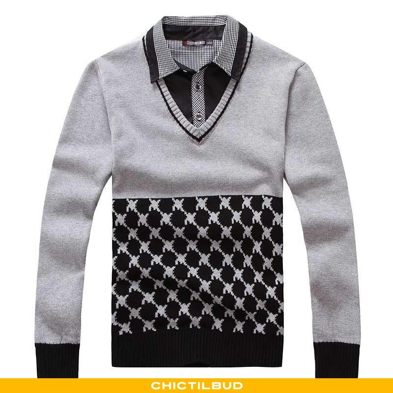 Sweatere Herre Sweater Bomuld Langærmet Ren