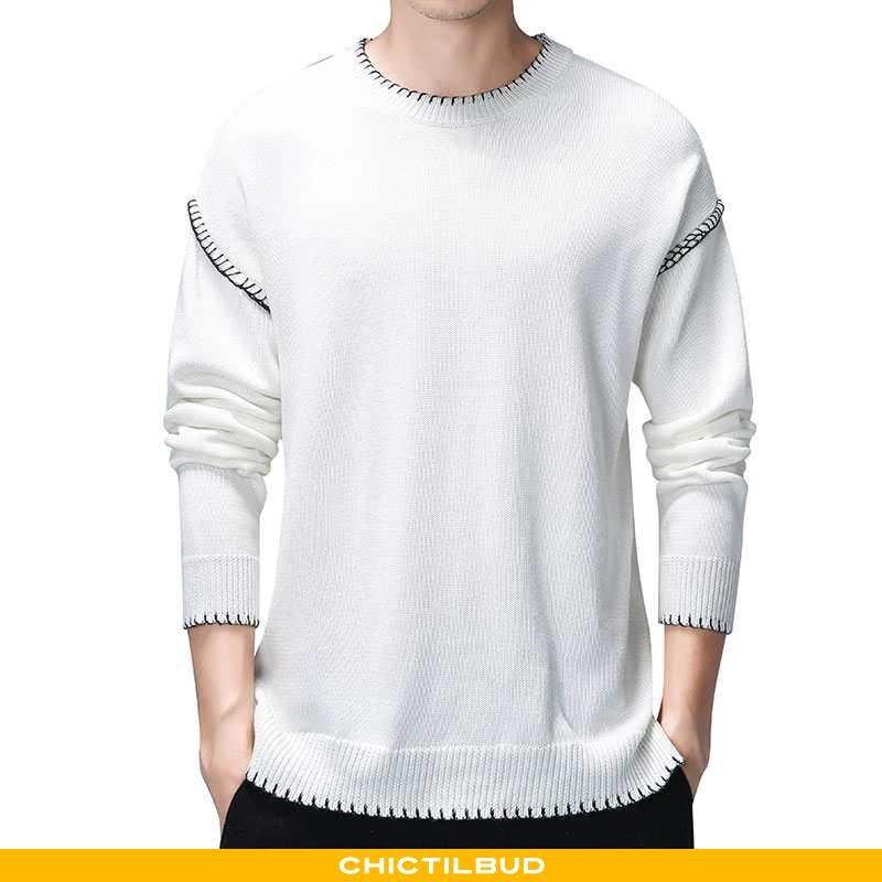 Sweatere Herre Sweater Strikket Trend Ny