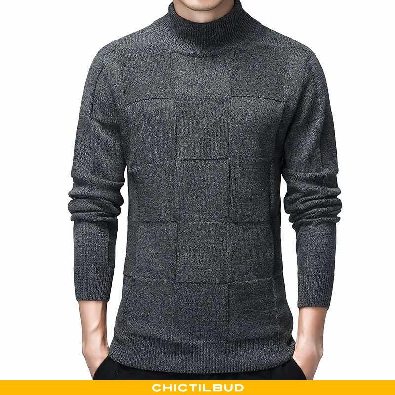 Sweatere Herre Sweater Strikket Trend Ungdom