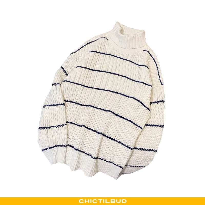 Sweatere Herre Sweater Trend Høj Krave