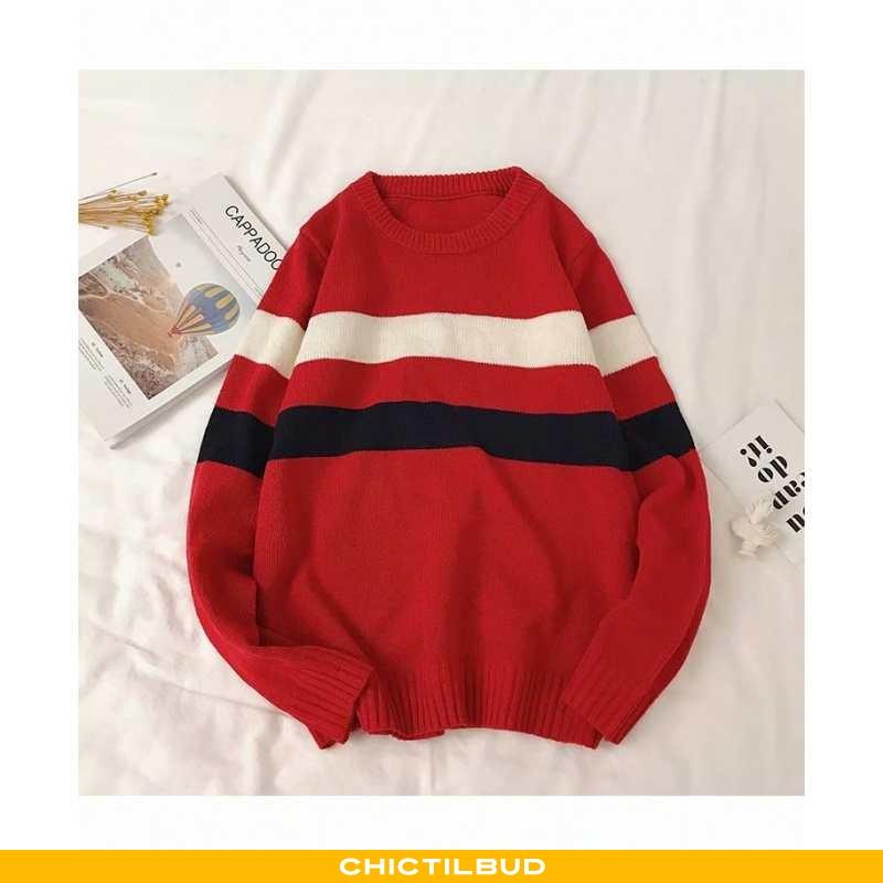 Sweatere Herre Sweater Vintage Rød