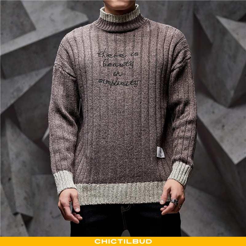 Sweatere Herre Tredimensionale Brune