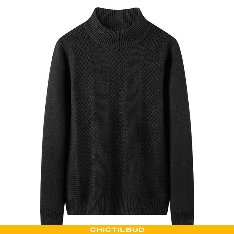 Sweatere Herre Undertrøje Strikket Varm Sort
