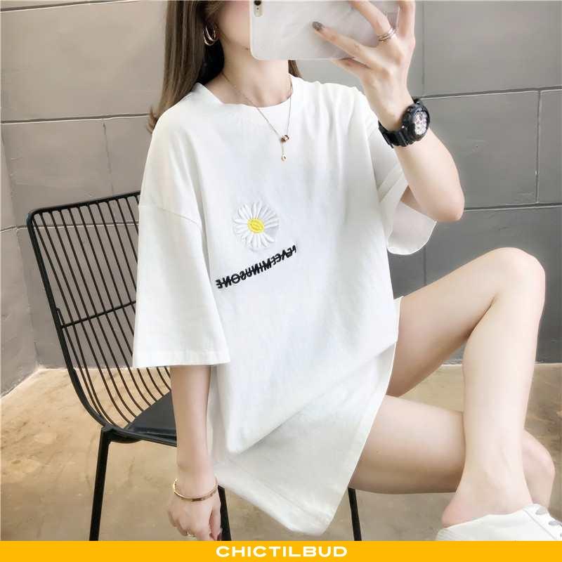 T-shirts Dame Bomuld Lang Kvinder