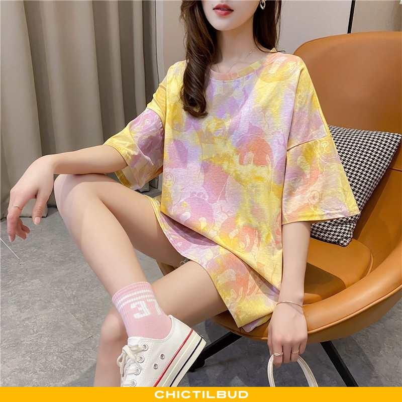 T-shirts Dame Bomuld Lang Mesh