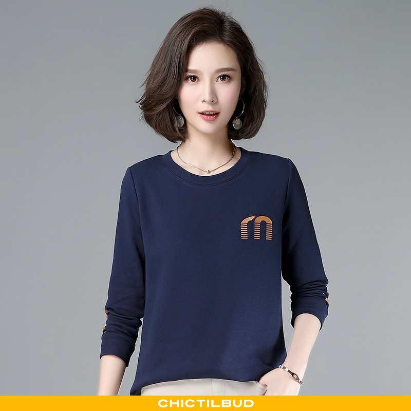 T-shirts Dame Casual Mørkeblå