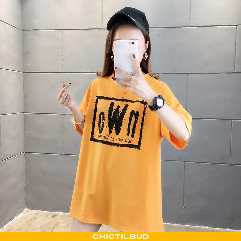 T-shirts Dame Casual Midten Gul