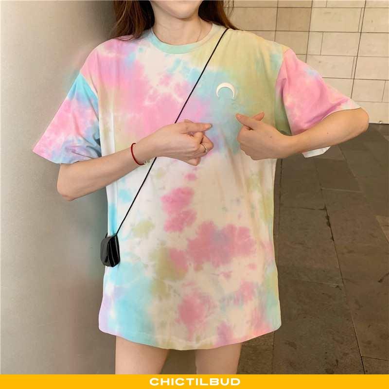 T-shirts Dame Løse Ny Lyserød