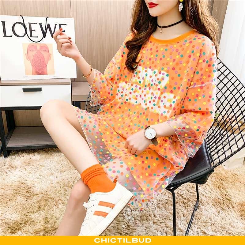 T-shirts Dame Trend Blød Orange