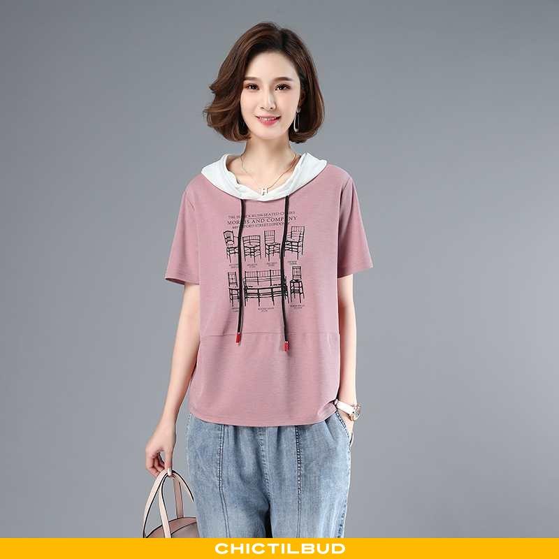 T-shirts Dame Trend Ny Lyserød