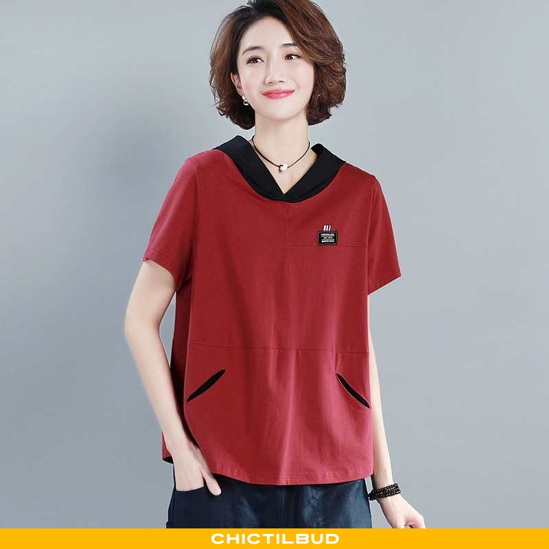 T-shirts Dame Trend Personlighed Rød