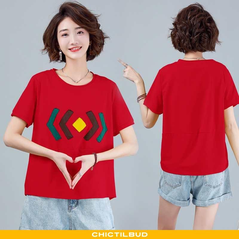 T-shirts Dame Tryk 2021 Rød