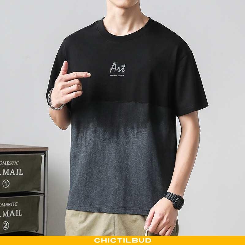 T-shirts Herre Bomuld Kortærmet Gradient