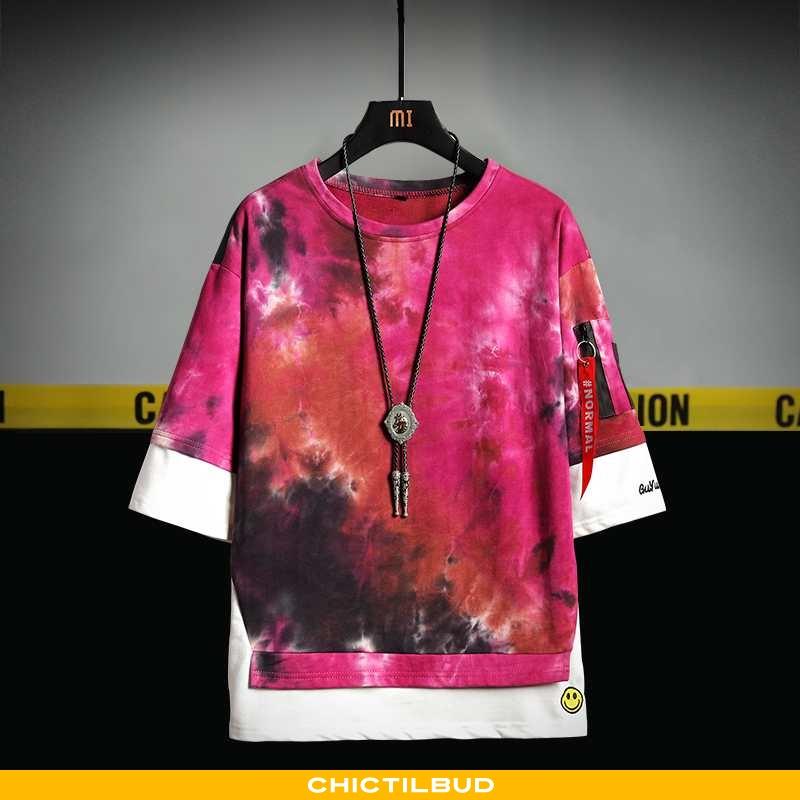 T-shirts Herre Bomuld Kortærmet Gul