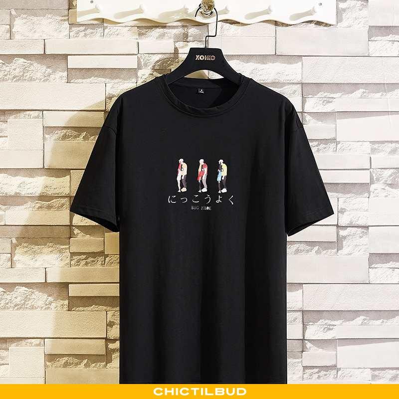 T-shirts Herre Bomuld Kortærmet Hvid