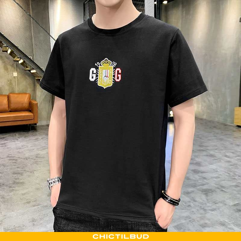 T-shirts Herre Bomuld Kortærmet Ren