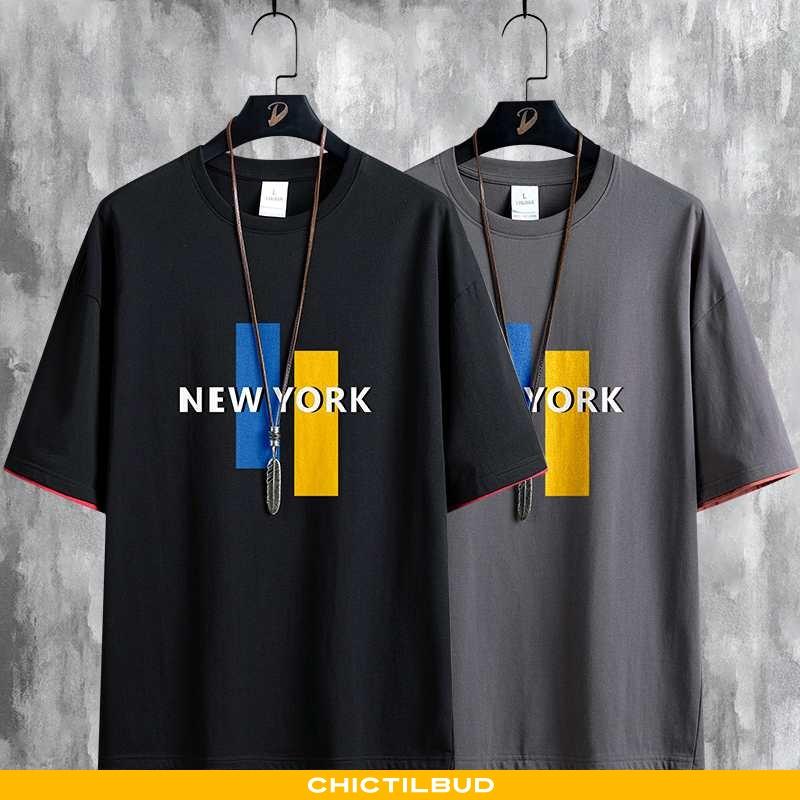 T-shirts Herre Bomuld Kortærmet Salg