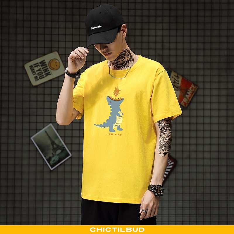 T-shirts Herre Bomuld Sommer Halv Ærme