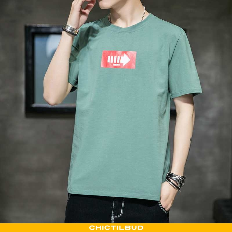T-shirts Herre Bomuld Trend Grøn