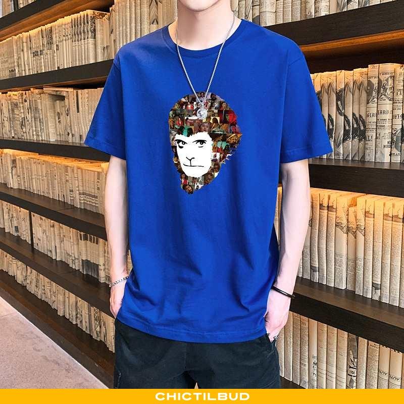 T-shirts Herre Bomuld Tryk Alt Matcher
