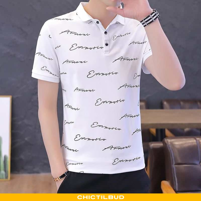 T-shirts Herre Casual Ungdom Hvid