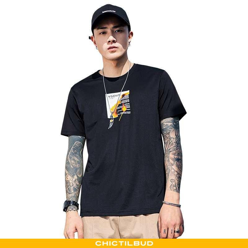 T-shirts Herre Kortærmet 2020 Sort