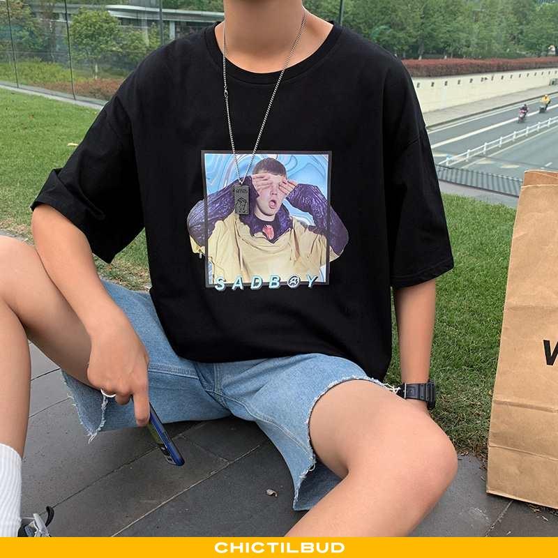 T-shirts Herre Kortærmet Frisk Sort