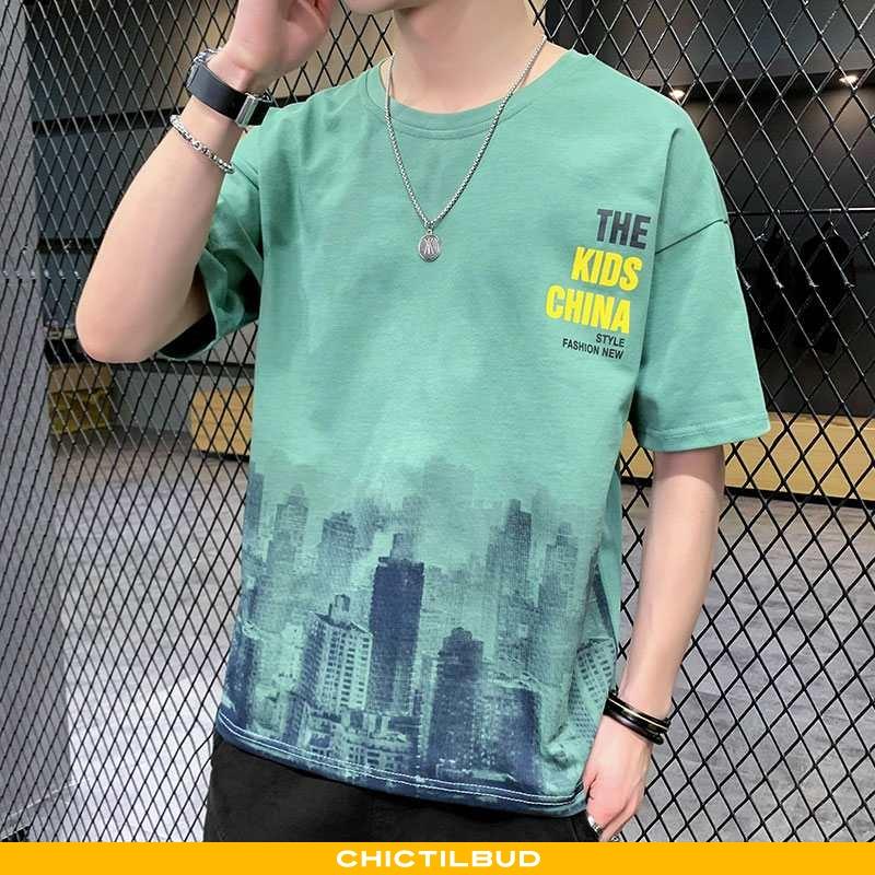 T-shirts Herre Mode Stil Grøn