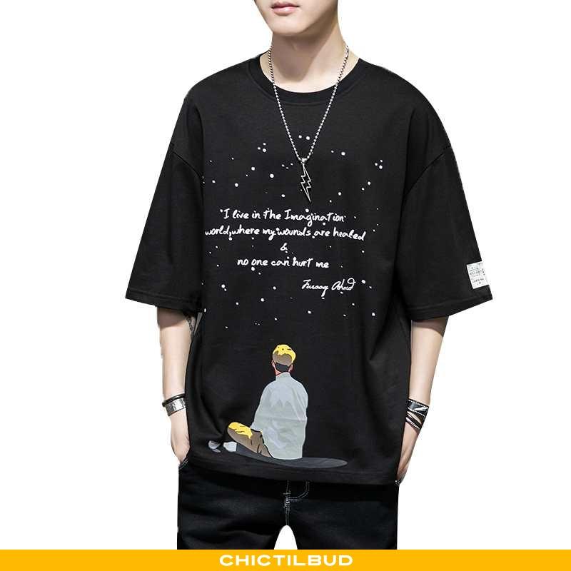 T-shirts Herre Sort