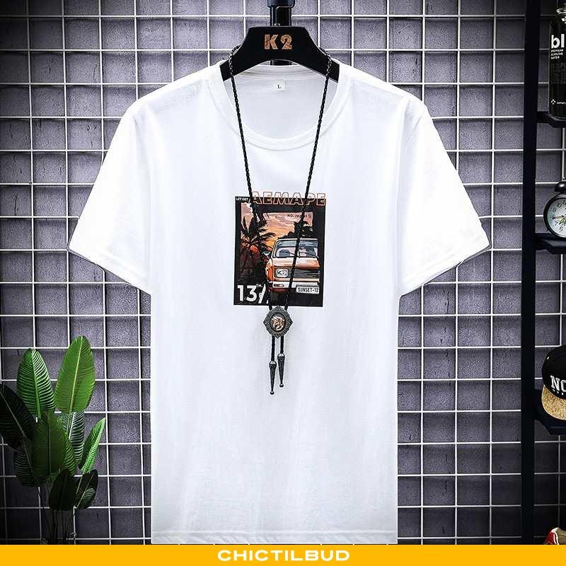 T-shirts Herre Trend Hvid