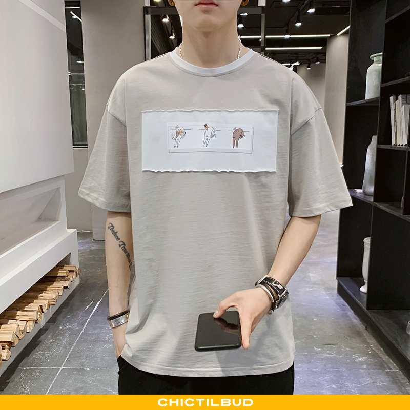 T-shirts Herre Undertrøje Kortærmet Grå