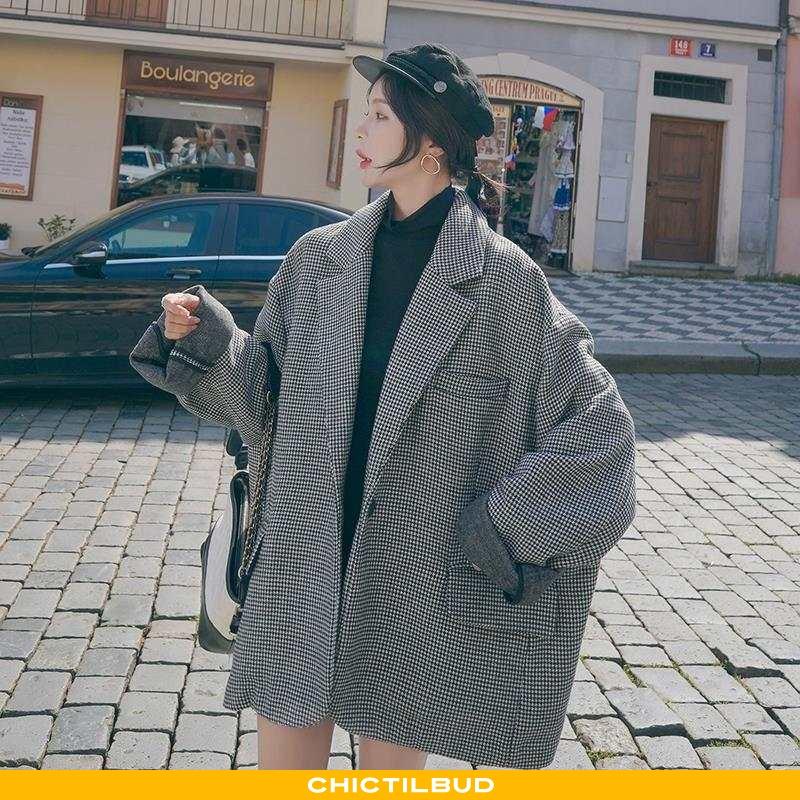 Uldfrakke Dame Frakke Behagelige Elegante