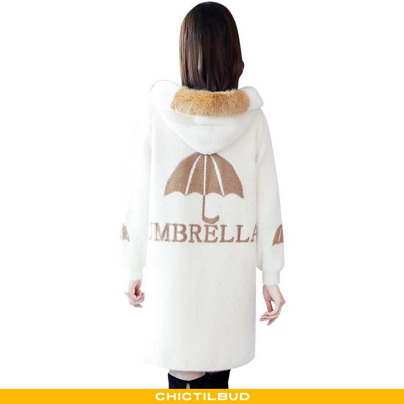 Uldfrakke Dame Frakke Behagelige Hvid