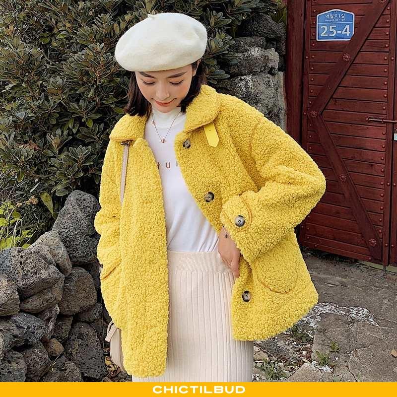 Uldfrakke Dame Frakke Læder Vinter Kvinder